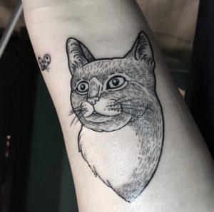Tatuaggio gatto Milano