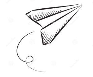 Tatuaggio aereo di carta Milano
